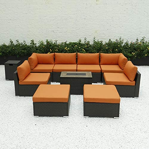 Diseno 9pcs Outdoor Patio Furniture, Outdoor Patio Furniture Sectional