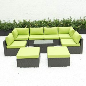 Diseno 9pcs Outdoor Patio Furniture Sectional Set With Coffee Table